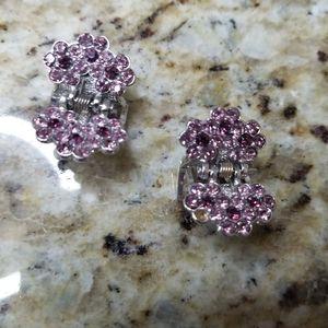 Two Swarovski crystalsl hair clips